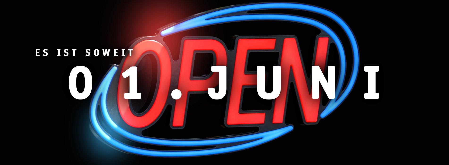 Wir öffnen wieder